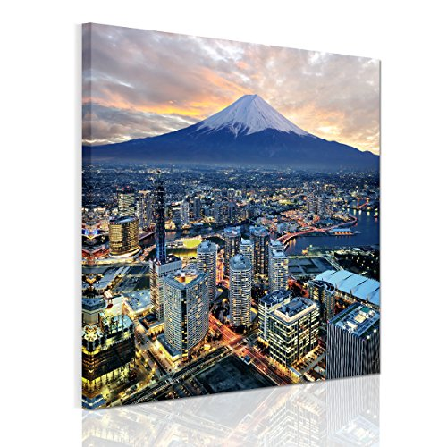 アート ポスター 風景 富士山 絵画 壁飾り インテリア 風景 壁キャンバス絵画 壁アートパネル(木枠セット)50*50cm*1