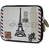 Amzer 7.75 Inch Neoprene Sleeve Paris Postcard For Samsung GALAXY Tab 2 7.0, Google Nexus 7, Amazon Kindle Fire...
