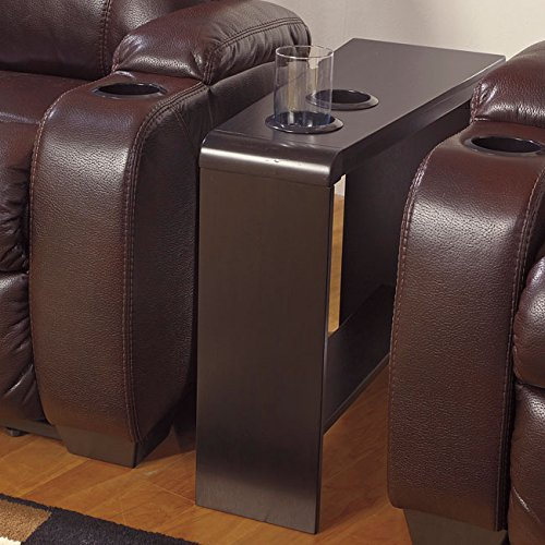 Ashley Furniture Signature Design Carlyle Chair Side End Table, Almost Black front-803412