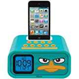 "Phineas and Ferb ""Agent P"" Dual Alarm Clock and 30-Pin iPod Speaker Dock, DF-H22"