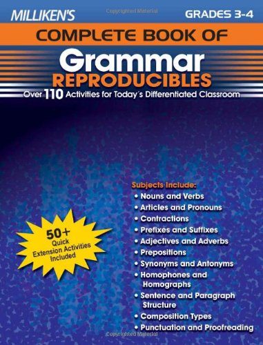 Milliken's Complete Book of Grammar Reproducibles - Grades 3-4 (Milliken Publishing Company compare prices)