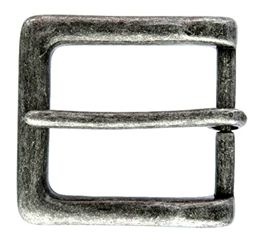 P4105 Antique Silver Tone Finish Square Buckle For Men
