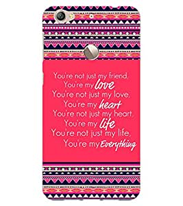 ColourCraft Quote Design Back Case Cover for LeEco Le 1S