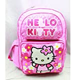 Backpack - Hello Kitty - Flowers Pink (Large School Bag)