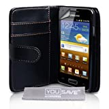 "Samsung Galaxy S Advance i9070 Schwarz PU Leder Brieftasche H�lle Mit Displayschutzvon ""Yousave Accessories�"""