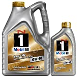 Mobil 1 0W-40 New Life Fully Synthetic Engine Oil 149015 1x5L+1x1L = 6L