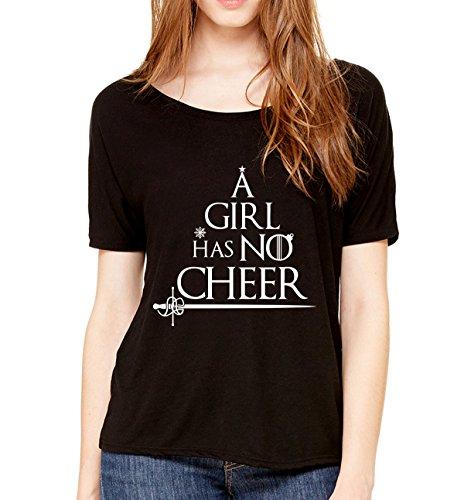 [A Girl Has No Cheer Funny Christmas Shirt Flowy Name Womens Tee Black Large] (Khal Drogo Costumes)