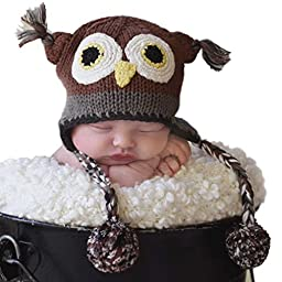 Huggalugs Baby and Toddler Boys or Girls Barn Owl Beanie Hat Medium