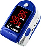 Facelake Fl400 Pulse Oximeter with Neck/wrist Cord, Carrying Case and Batteries ...