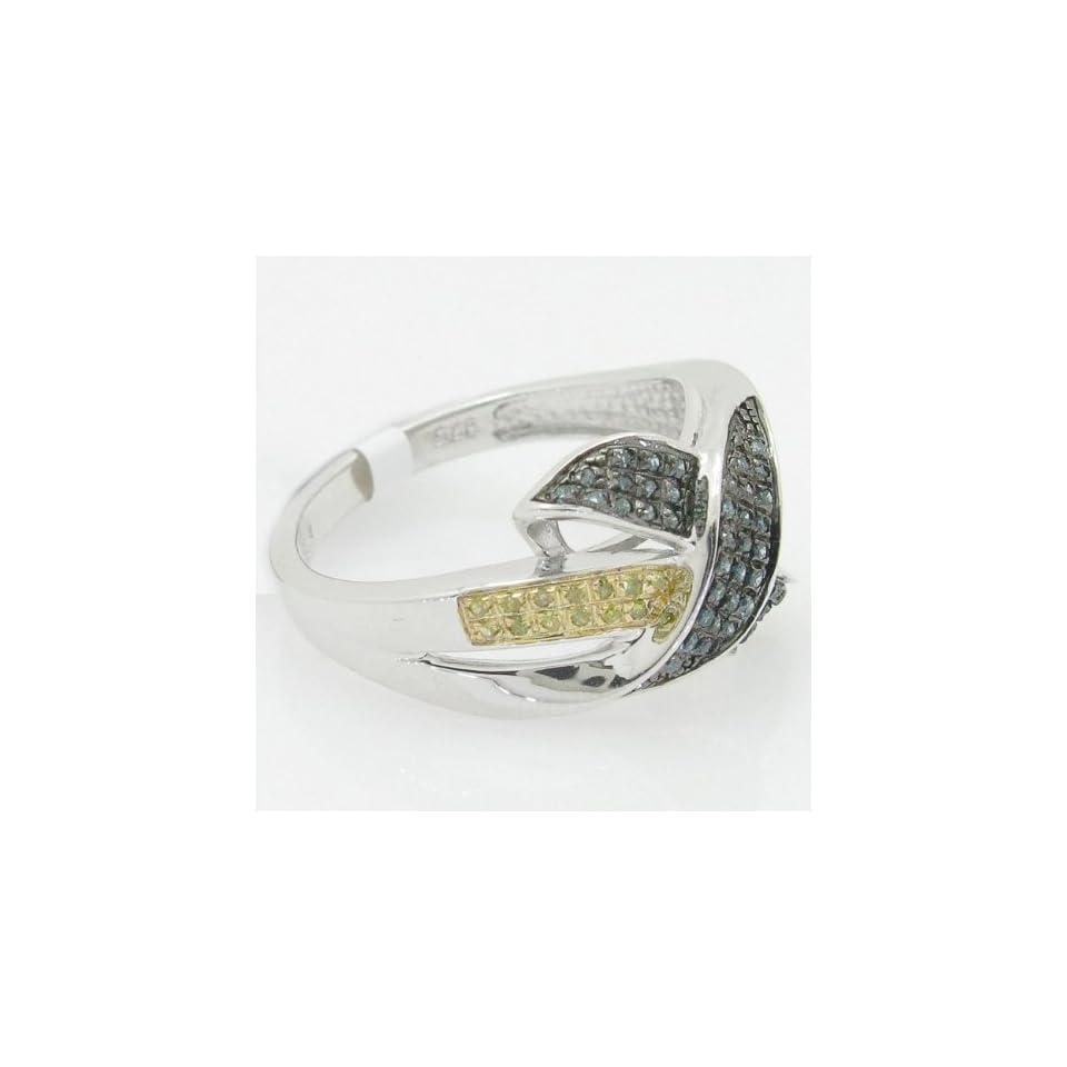 Womens Engagement Wedding Fashion Selen .925 Italian Sterling Silver round cut 0.40 ctw diamond ring R 10549CBW