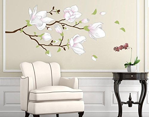 wandsticker magnolienast b x h 150cm x 75cm erh ltlich in 10 gr en. Black Bedroom Furniture Sets. Home Design Ideas