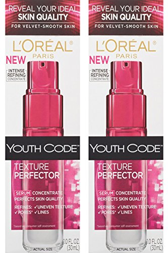 L'oreal Paris Youth Code Texture Perfector Serum, 1.0 Ounce, (Pack of 2) (Youth Code Day Night Cream compare prices)