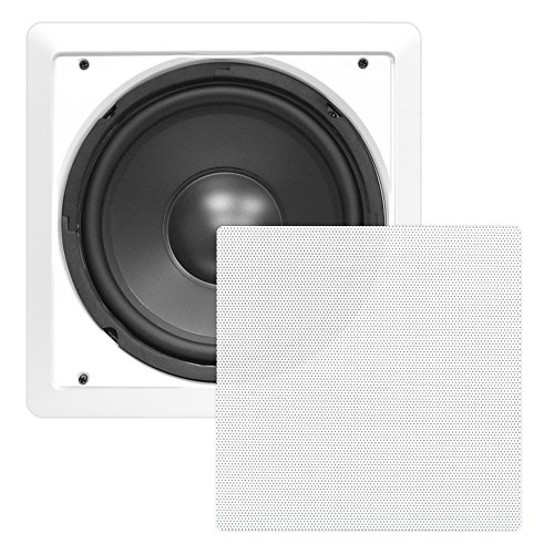 "Pyle Pdiws12 In-Wall / In-Ceiling 12"" High Power Subwoofer System, Dvc, Flush Mount, White, Single Speaker"