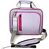 Sony DVPFX950 9-Inch Portable DVD Player Shoulder Traveling Case + Includes a eBigValue Determination Hand Strap Key Chain ( Airport Check-Point-Friendly Bag )