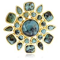 [アイシャーヤ] Isharya African Turquoise icon statement ring R1431-12-362-6 日本サイズ11号