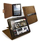 """Tuff-luv Multi-View """"Stasis"""" Series: Natural Hemp Brown case cover for Apple iPad 2"""