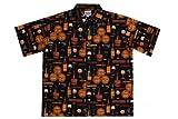 Wave Shoppe Men's Wine Tasting Hawaiian Shirt-Black-3X