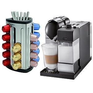 Coffee Maker Capsule Reviews : DeLonghi EN520SL Lattissima Nespresso Silver Capsule Espresso and Cappuccino Machine - Nil-023