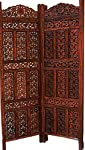 Aarsun Woods Aarsun: Hand carved Wooden Partition Screen/ Room Divider in Sheesham Wood