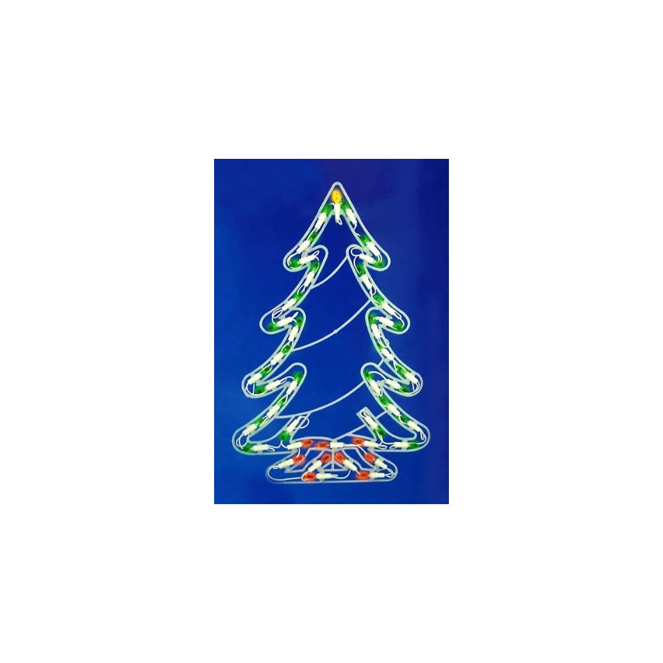 4 Multi Color LED Light Show Cone Christmas Tree Lighted Yard Art Decoration