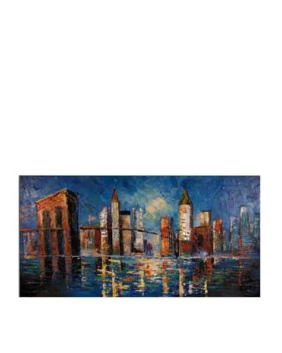 Arte dal Mondo Edgar Ramirez Ponte di Brooklyn 70x140x3,5 cm