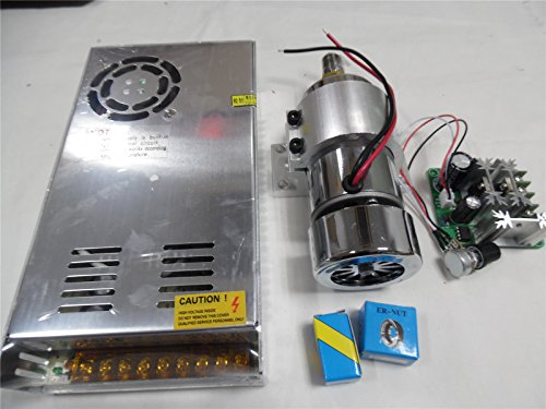 300W-Brushed-Spindle-Motor-Air-cooled-ER11-Diameter-52mm-Power-Supply-Mount-Bracket-CNC-Kit
