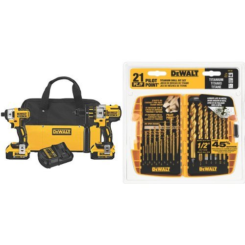 DEWALT-DCK296M2-20V-XR-Lithium-Ion-Brushless-Premium-Hammerdrill-and-Impact-Driver-Combo-Kit