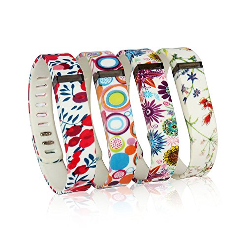 RedTaro Replacement Bands with Watchband Buckle for Fitbit Flex / Wireless Activity Bracelet Sport Wristband / Fitbit Flex Bracelet Sport Arm Band (No tracker, 3PCS Replacement Bands Only) (See More Red Dot compare prices)