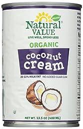 Natural Value Organic Coconut Cream, 13.5 Ounce