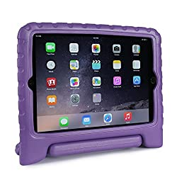 FAVOLCANO® Multi Function Kids Friendly Child Shockproof Safe EVA Foam Protective Case with Stand/Handle for Apple iPad Mini 1/2/3 (Purple)