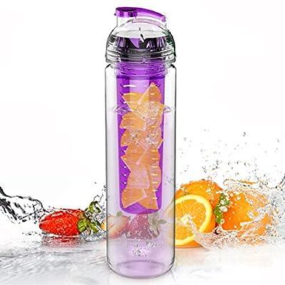 Trinkflasche für Fruchtschorlen, 800ml, Tritan, verschiedene Farben erhältlich, BPA-frei