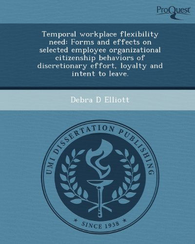 Temporal workplace flexibility need: Forms and