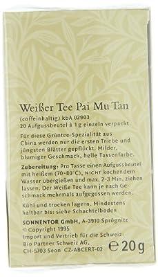 Sonnentor Weißer Tee Pai Mu Tan Teebeutel, 2er Pack (2 x 20 g) - Bio von Sonnentor auf Gewürze Shop