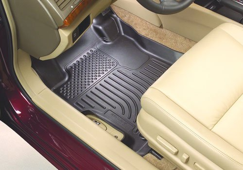 Husky Liners 98131 Black Custom Fit Front and Second Seat Floor Liner Set