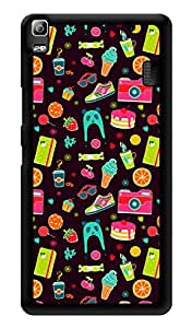 "Humor Gang Summer Life Pattern Printed Designer Mobile Back Cover For ""Lenovo A7000 - Lenovo A7000 Plus - Lenovo A7000 Turbo - Lenovo k3 note"" (3D, Glossy, Premium Quality Snap On Case)"