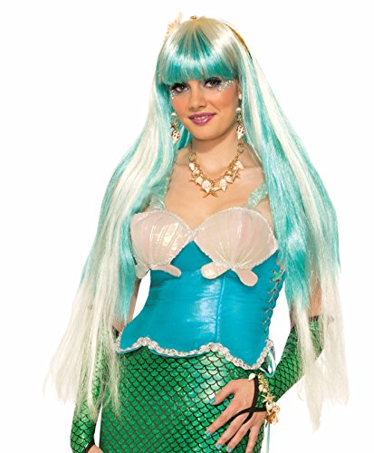 Waterfall Long Adult Mermaid Wig By Dazzling Costumes