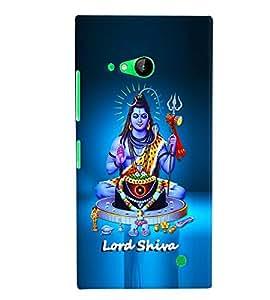 Fuson Premium Lord Shiva Printed Hard Plastic Back Case Cover for Nokia Lumia 730