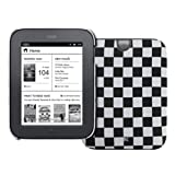 EMPIRE Black and White Checkered Stealth Design Hard Case Cover for Barnes and Noble Nook Simple Touch