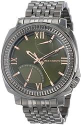 Vince Camuto Men's VC/1002GRDS Veteran Green Dial Dark Silver-Tone Bracelet Watch