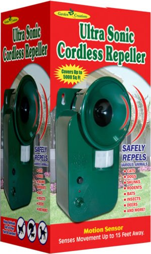 Motion Activated ULTRASONIC PEST ANIMAL REPELLER