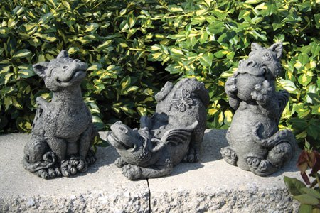 Lovely Little Darling Dragon U0027Butterflyu0027 U2013 Cast Stone Garden Statue