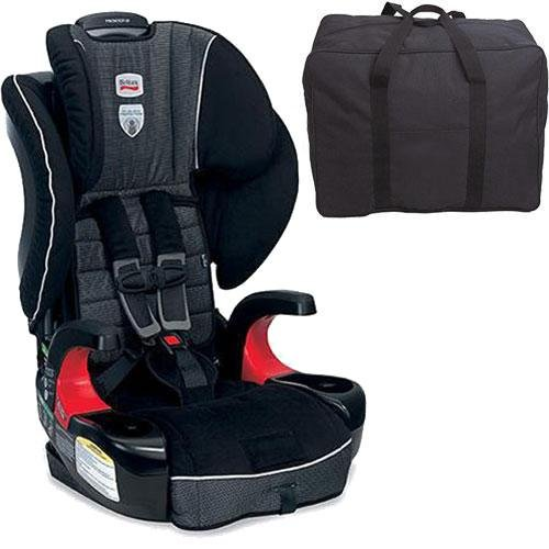 Britax Frontier 90 Combination Harness-2-Booster Seat - Onyx With A Car Seat Travel Bag