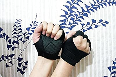 Gym Body Building Training Fitness Gloves Sports Weight Lifting Gloves Exercise Cycling For Men And Women Fitness Sports Half Finger Gloves GYM Weight Lifting Wraps Body Building Workout Exercise Training Absorbing Sport Mitts Fitness Sports Half Finger G