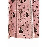アリス柄 カーテン 幅100cm×丈178cm2枚組 ピンク 遮光カーテン