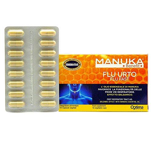 Manuka Benefit Flu Urto 16 Capsule Vegetali