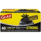 Glad Strong Outdoor Quick-Tie Large Trash Bags, 30 Gallon, 40 Count (Pack of 4)