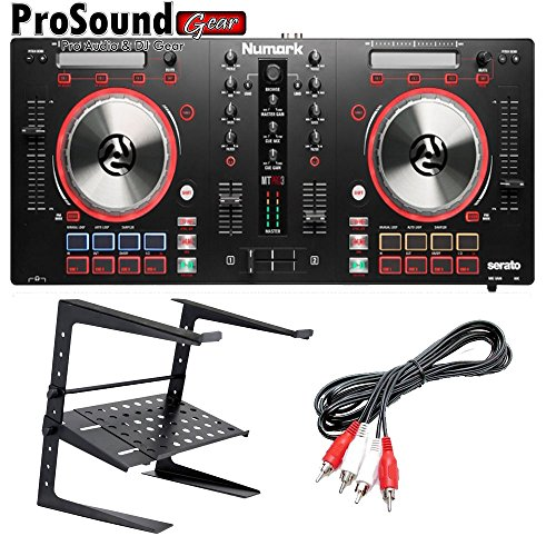 Numark Mixtrack Pro 3 All-In-One DJ Controller for Serato DJ + free laptop stand and RCA cable(ProSoundGear)