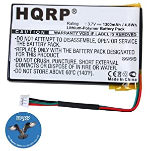 HQRP Battery for Magellan RoadMate 1400, 1412, 1430, 1445, 1445T, 5390-B101-0780, 384.00019.005, 0829FL22538, B5390-B101, 384.00015.005 GPS Navigator + HQRP Coaster
