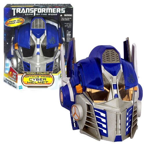 "Hasbro Year 2011 Transformers Movie 3 ""Dark Of The Moon"" Series Electronic Accessory Set - Robo Power Optimus Prime Cyber Helmet With Cybertronian Warrior Deco, 3 Modes Of Play (Voice Changer, Battle Phrases And Conversion Sounds) Plus Straps For Adjust F"