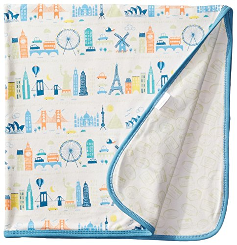 Magnificent Baby Baby-Boys Newborn Reversible Blanket, World Cities, One Size - 1
